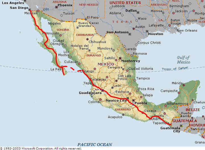 Pacific Mexico Map.Mexico Map